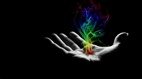 hand wallpaper colorful smoke in hand wallpaper 620