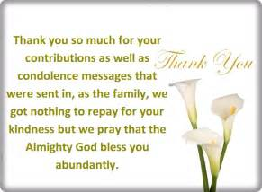 thank you for your condolences quotes and notes