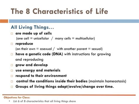 characteristics of biography ppt characteristics of living things powerpoint