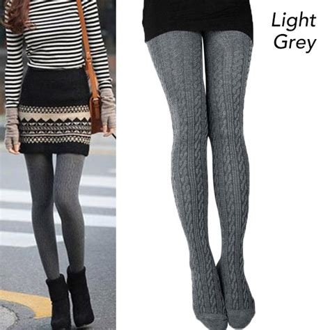winter pattern leggings outfits winter knit tights with ribbed pattern design buy under