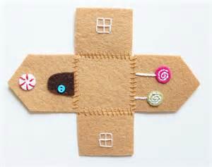 felt gingerbread template felt gingerbread house ornament cutesy crafts