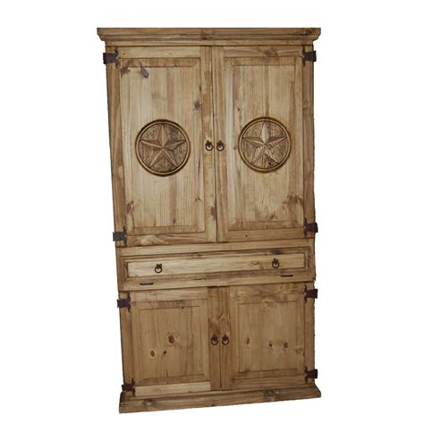 Million Dollar Rustic 07 1 10 12 Tx Star Accented Computer Rustic Computer Armoire