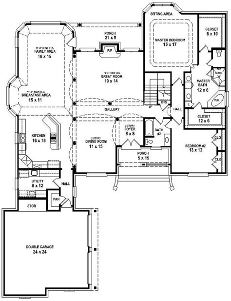 floor plans images 2 bedroom house plans open floor plan ideas including