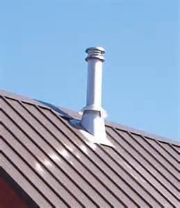 metal roof chimney through metal roof