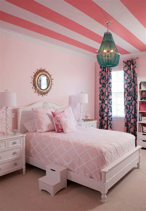 Girly Bedroom Decorating Ideas by 25 Best Ideas About Pink Striped Walls On Bedroom Colors Rooms And