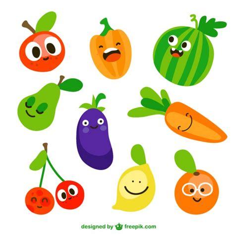 imagenes animadas de frutas y verduras verduras divertidas descargar vectores gratis