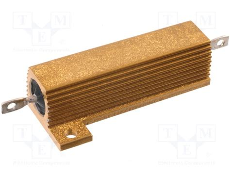 resistors with heatsink hs50 2rj arcol resistor wire wound with heatsink tme electronic components