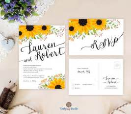 17 Best ideas about Sunflower Wedding Invitations on