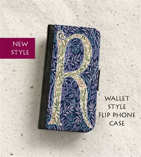 William Morris Pattern E0994 Casing Samsung S8 Custom phone flip letter r to fit a variety o folksy
