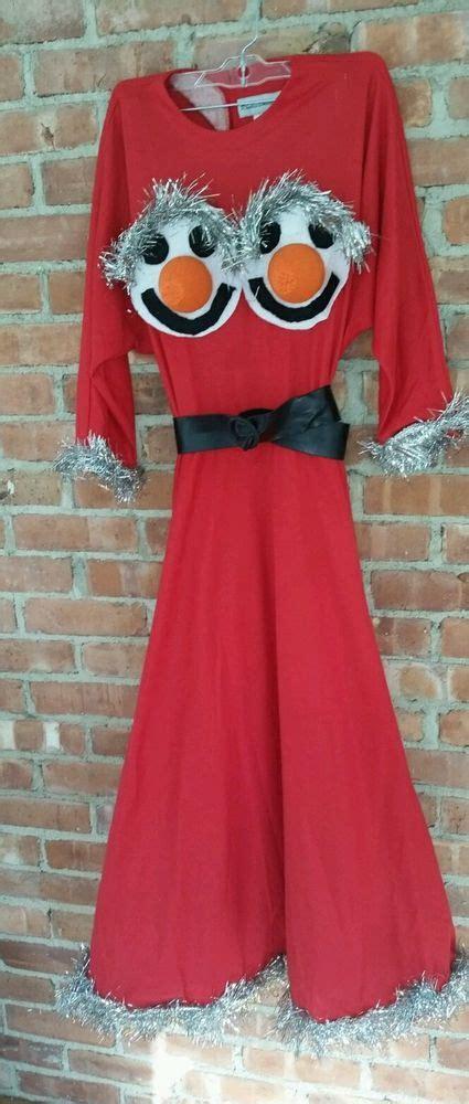 boat neck christmas jumper ugly christmas dress tacky size 6 handmade boatneck