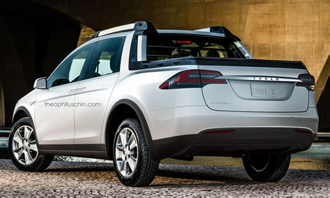 tesla electric pickup truck think before you laugh at this tesla pickup render