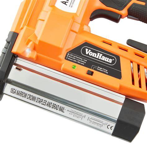 heavy duty electric stapler reviews vonhaus cordless electric heavy duty 2 in 1 nail staple