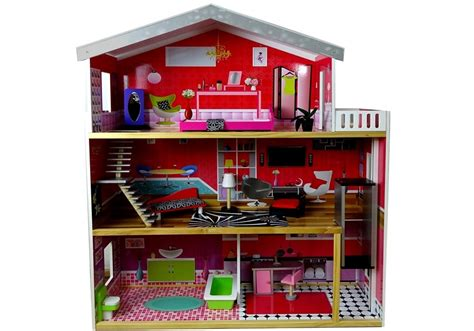 doll house 4 rooms wooden dolls house quot juliet quot multi storey with 4 rooms