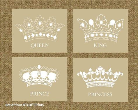 king and queen home decor items similar to home decor prints of a king queen