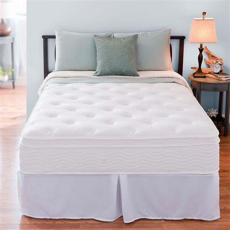 Bed And Frame Set 12 Inch Therapy Box Top Mattress And Bed Frame Set New Ebay