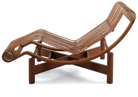 chaise perriand chaise longue en bambou