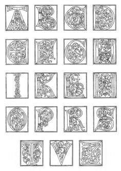 printable illuminated letters alphabet printable illuminated letters coloring pages 4