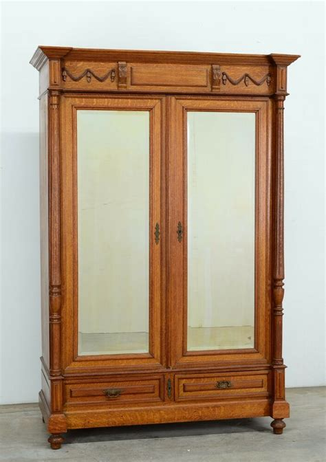 Antique Armoires Wardrobes - 348 1 antique oak renaissance style 2 door