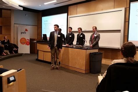 Loyola Sellinger Mba by Sellinger Students Compete In Pricewaterhousecoopers