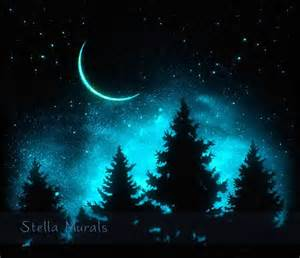 Moon And Stars Wall Stickers best 25 glow in dark paint ideas on pinterest glow