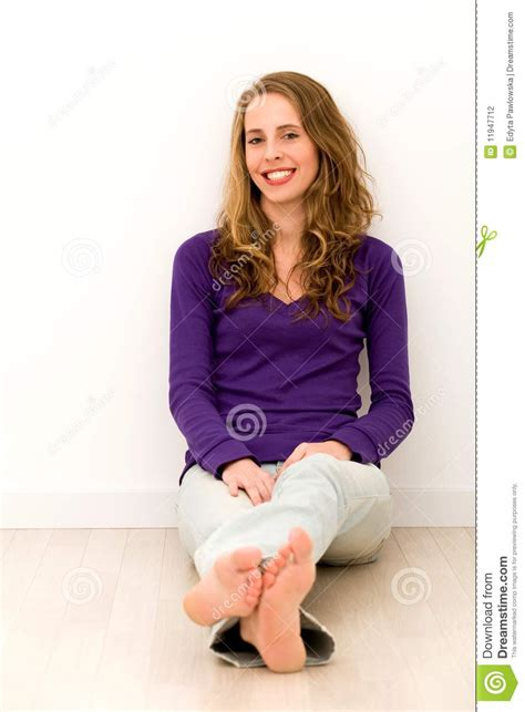Download Floor Plan by Young Woman Sitting On Floor Stock Photography Image