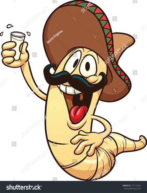 cartoon tequila cartoon tequila worm vector clip art stock vector