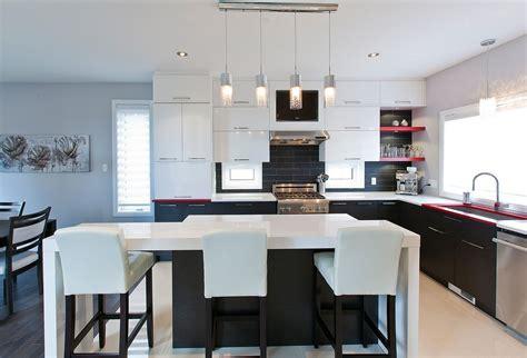 cuisine et comptoir comptoir cuisine moderne materiaux accueil design et