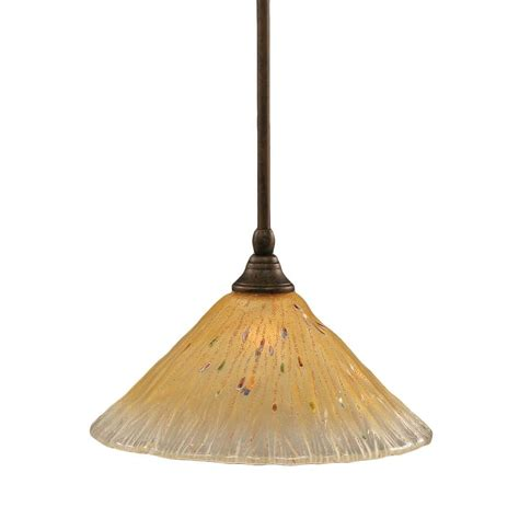 Filament Design Concord 1 Light Bronze Incandescent Filament Pendant Lighting