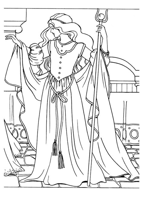 Princess Coloring Pages Anime Princess Coloring Pages