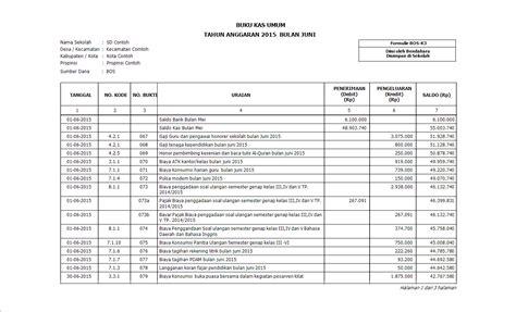 format buku kas pembantu aplikasi dana bos