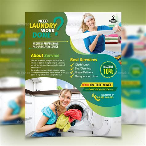 laundry flyers templates laundry service flyer by design station graphicriver