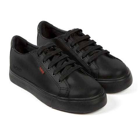 Kickers Pantofel 02 Leather Black kickers tovni lacer youth black sporty leather laced shoe from jelly egg uk