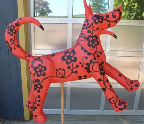 How To Make Paper Mache Animals - house insideout a 3d papier mache animal sculpture