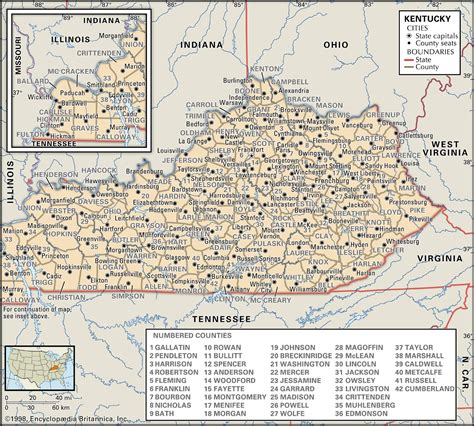 kentucky map counties roads state and county maps of kentucky