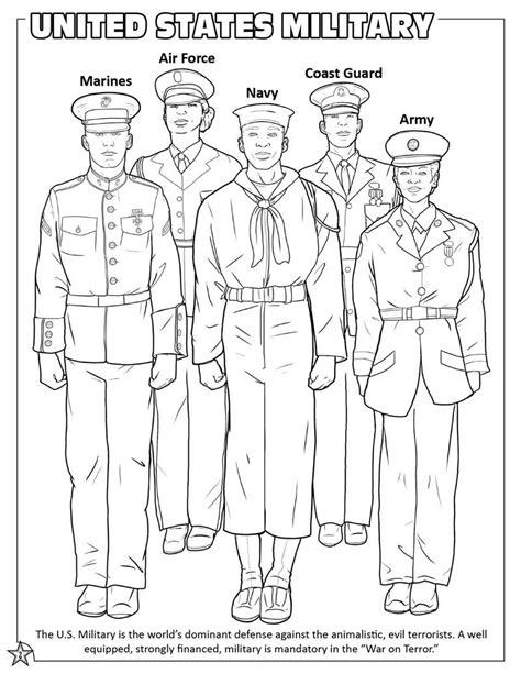 Armed Forces Coloring Pages armed forces emblems coloring page coloring pages