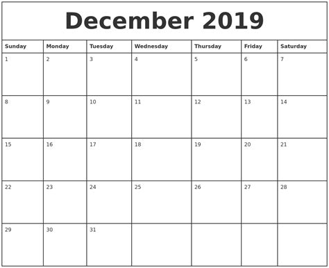 January 2019 Calendar Printable December 2019 Printable Calendar 2018 Calendar Printable