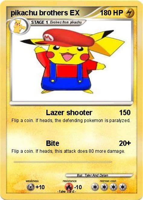 Pokemon Coloring Pages Pikachu Ex | pok 233 mon pikachu brothers ex lazer shooter my pokemon card