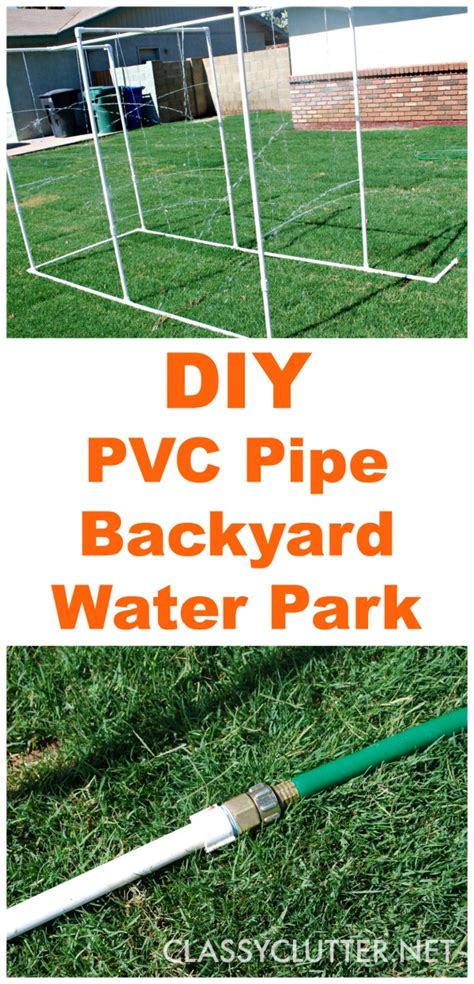 diy pvc backyard water park clutter