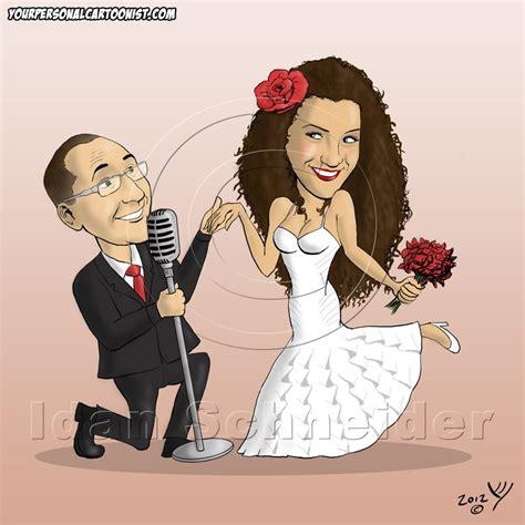 wedding invitations caricature drawing caricature wedding invitations groom serenades