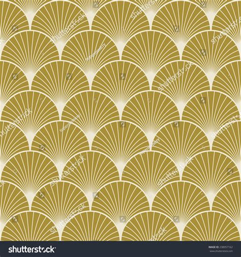 vector pattern art deco seamless gold colored art deco pattern stock vector
