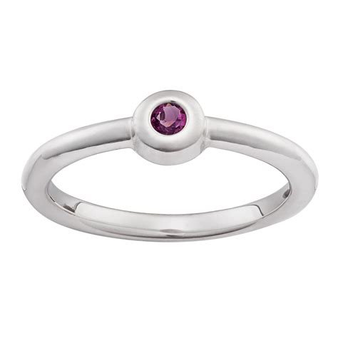 sterling silver stackable birthstone ring 41372