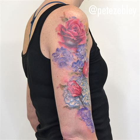 watercolor tattoo philly pete zebley