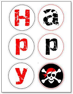 printable pirate banner pirate themed birthday party with free printables pirate