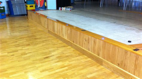 Stage Wood Flooring by Wood Floor Restoration Of Stage At Three Bridges