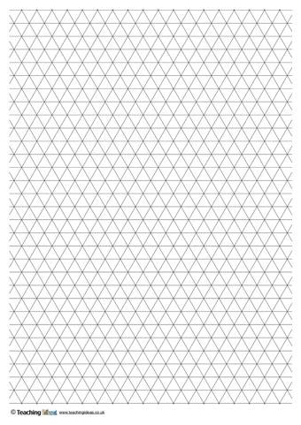 Triangle Grid Paper   Teaching Ideas