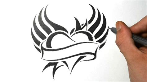 how to design a tribal tattoo cool designs to draw how to draw a with wings