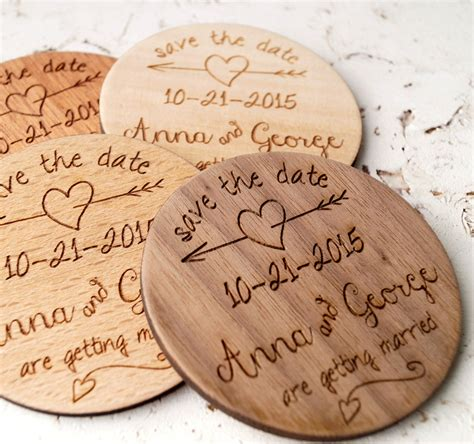 rustic wedding save the date magnets wood save the date magnets rustic wedding save the dates