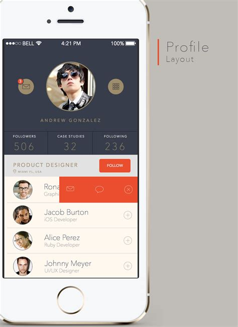 ui pattern profile free mobile android app ui design template for sketch 3