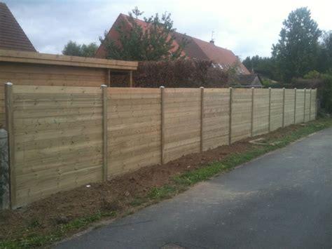 cloture en bois pour jardin pas cher cl 244 ture bois