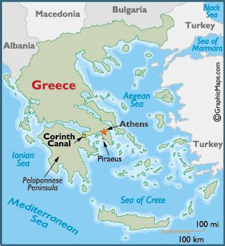 map of corinth map of the corinth canal and information page